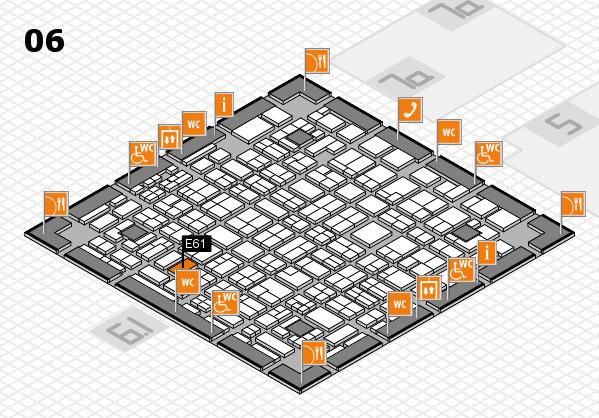 MEDICA 2016 hall map (Hall 6): stand E61