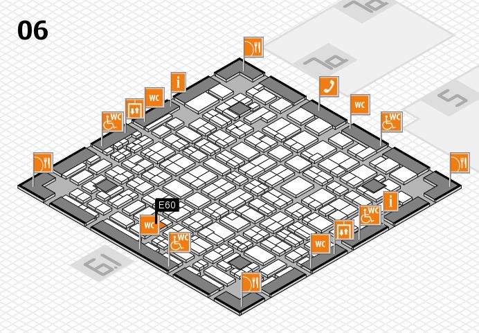 MEDICA 2016 hall map (Hall 6): stand E60