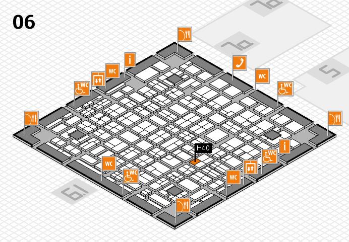 MEDICA 2016 hall map (Hall 6): stand H40