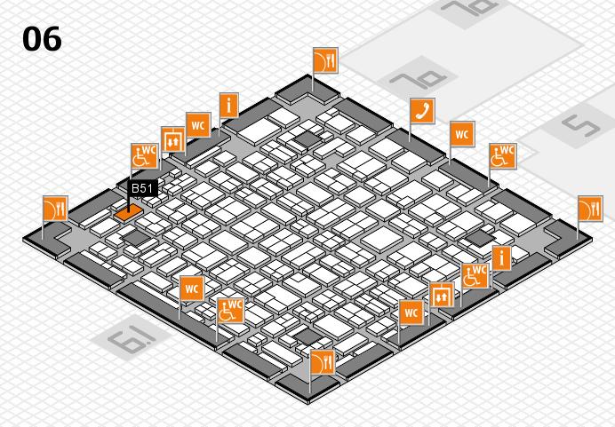 MEDICA 2016 hall map (Hall 6): stand B51