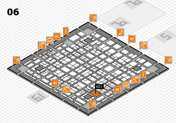 MEDICA 2016 hall map (Hall 6): stand K51