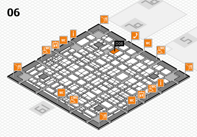 MEDICA 2016 hall map (Hall 6): stand D06