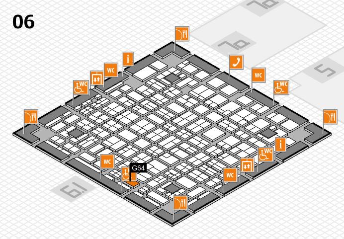 MEDICA 2016 hall map (Hall 6): stand G64