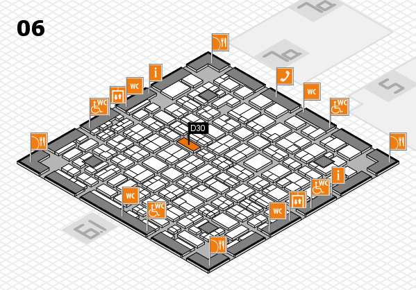 MEDICA 2016 hall map (Hall 6): stand D30
