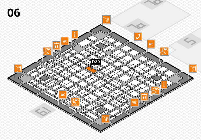 MEDICA 2016 hall map (Hall 6): stand D30