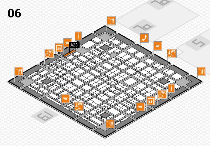 MEDICA 2016 hall map (Hall 6): stand A23