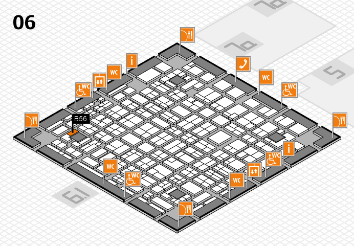 MEDICA 2016 hall map (Hall 6): stand B56