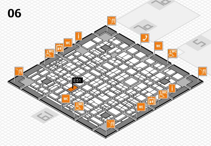 MEDICA 2016 hall map (Hall 6): stand E51