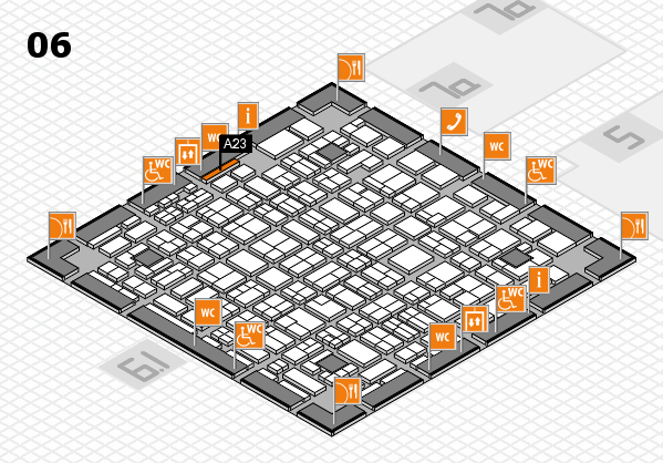 MEDICA 2016 hall map (Hall 6): stand A23