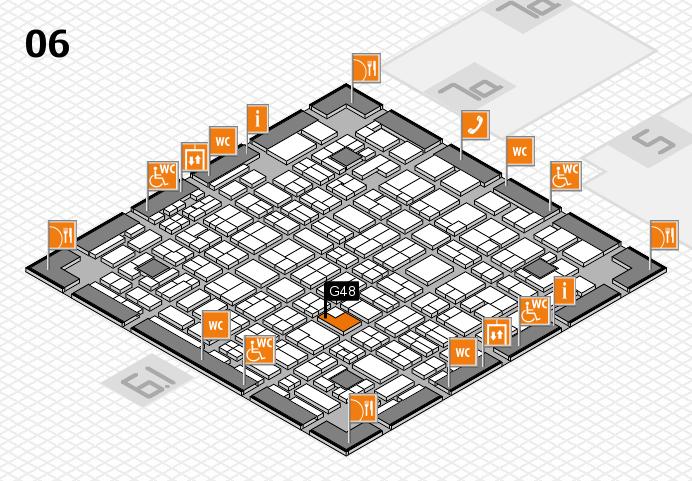 MEDICA 2016 hall map (Hall 6): stand G48
