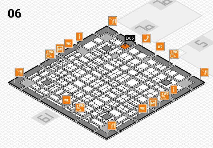MEDICA 2016 hall map (Hall 6): stand D05