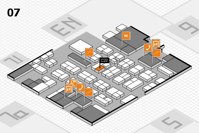 MEDICA 2016 hall map (Hall 7): stand C22