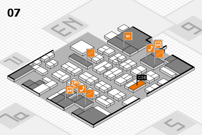 MEDICA 2016 hall map (Hall 7): stand C38