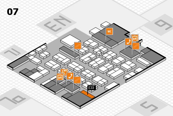 MEDICA 2016 hall map (Hall 7): stand E33