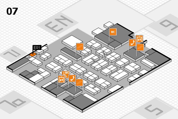 MEDICA 2016 hall map (Hall 7): stand E01