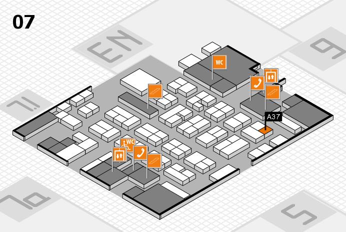 MEDICA 2016 hall map (Hall 7): stand A37