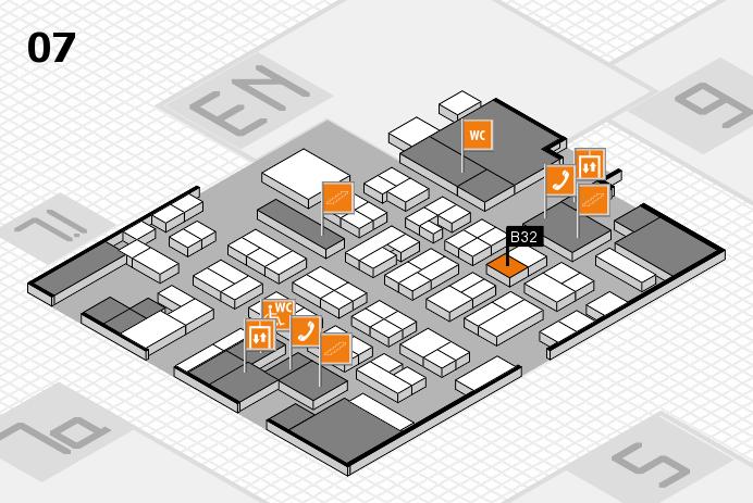 MEDICA 2016 hall map (Hall 7): stand B32
