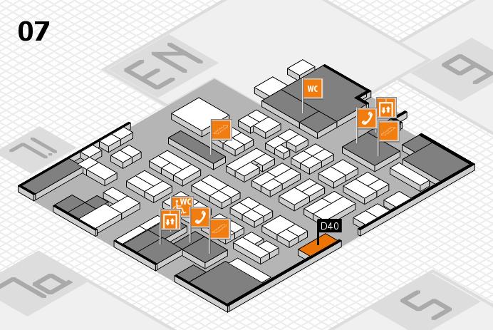 MEDICA 2016 hall map (Hall 7): stand D40