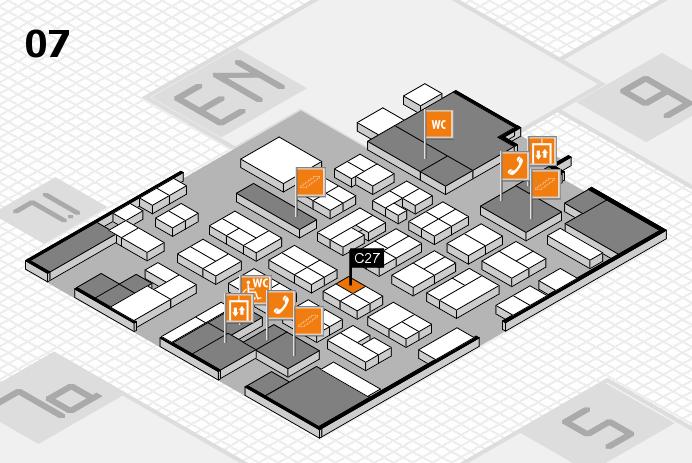 MEDICA 2016 hall map (Hall 7): stand C27