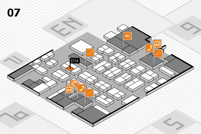 MEDICA 2016 hall map (Hall 7): stand D14
