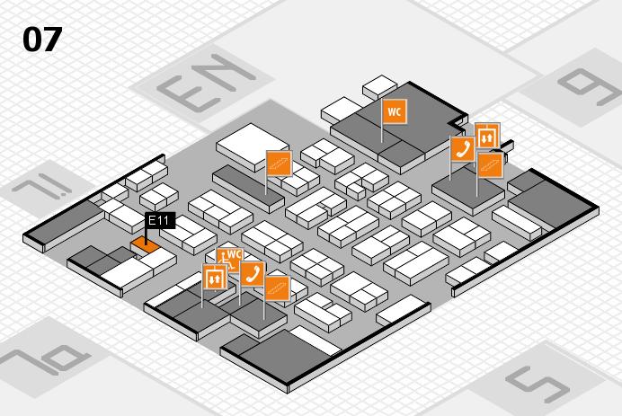 MEDICA 2016 hall map (Hall 7): stand E11