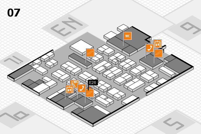 MEDICA 2016 hall map (Hall 7): stand E26