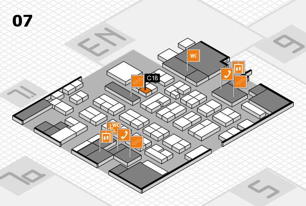 MEDICA 2016 hall map (Hall 7): stand C18