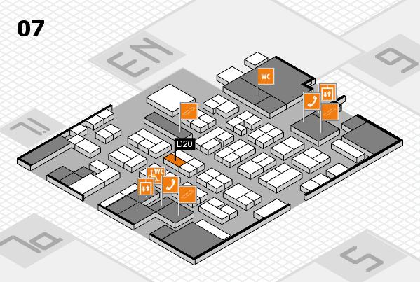 MEDICA 2016 hall map (Hall 7): stand D20