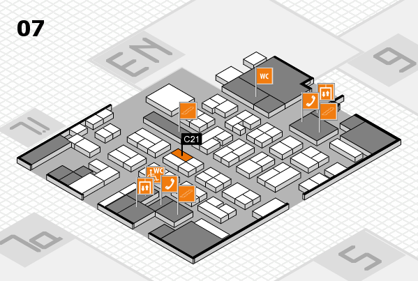 MEDICA 2016 hall map (Hall 7): stand C21
