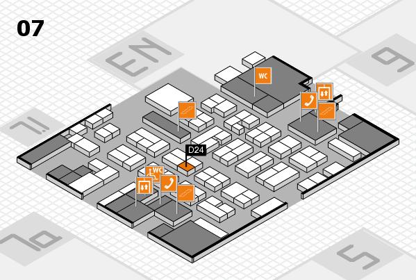 MEDICA 2016 hall map (Hall 7): stand D24