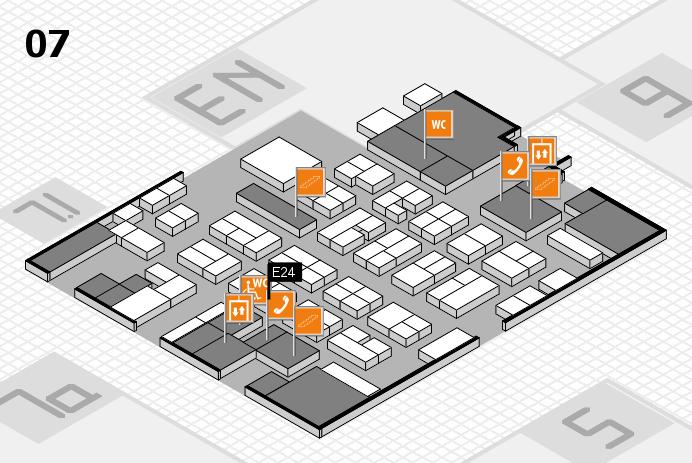 MEDICA 2016 hall map (Hall 7): stand E24