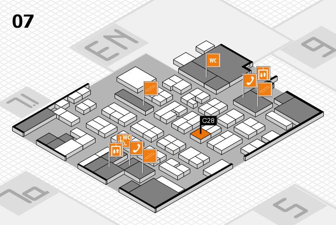MEDICA 2016 hall map (Hall 7): stand C28