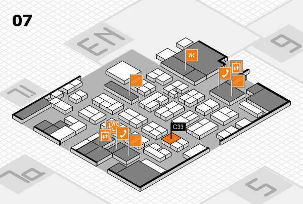 MEDICA 2016 hall map (Hall 7): stand C33