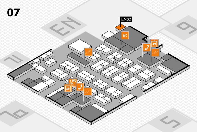 MEDICA 2016 hall map (Hall 7): stand EN02
