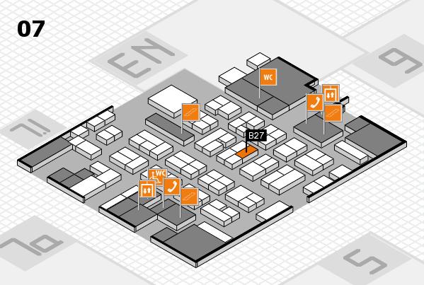 MEDICA 2016 hall map (Hall 7): stand B27