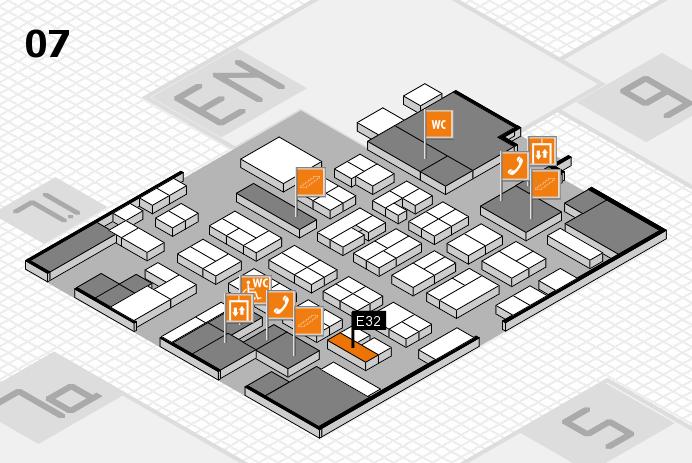 MEDICA 2016 hall map (Hall 7): stand E32
