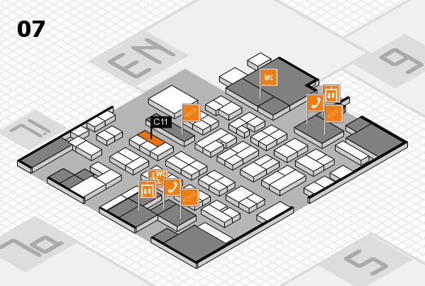 MEDICA 2016 hall map (Hall 7): stand C11