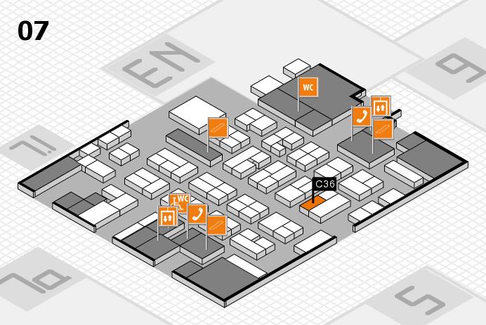 MEDICA 2016 hall map (Hall 7): stand C36