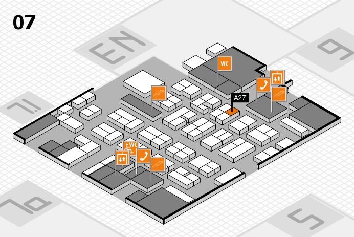 MEDICA 2016 hall map (Hall 7): stand A27