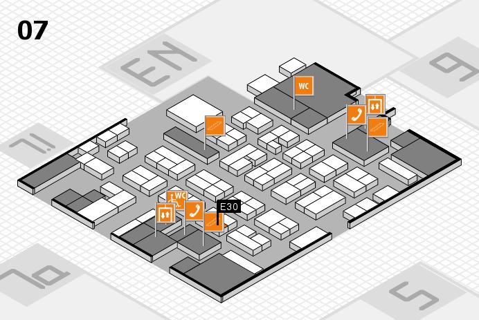 MEDICA 2016 hall map (Hall 7): stand E30