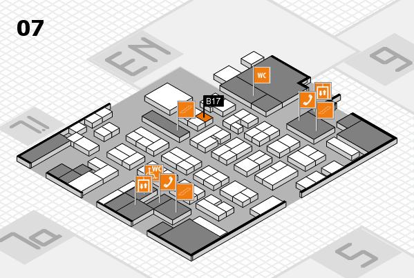 MEDICA 2016 hall map (Hall 7): stand B17