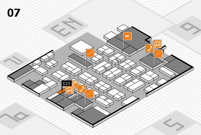 MEDICA 2016 hall map (Hall 7): stand E23