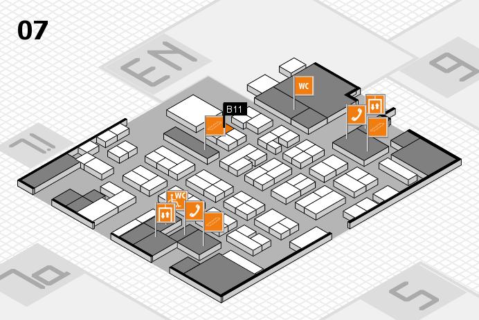 MEDICA 2016 hall map (Hall 7): stand B11