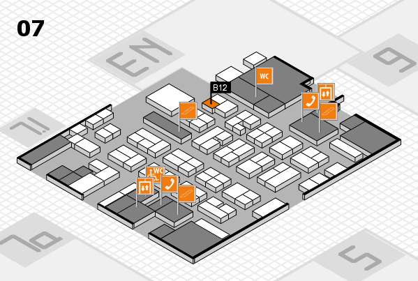 MEDICA 2016 hall map (Hall 7): stand B12
