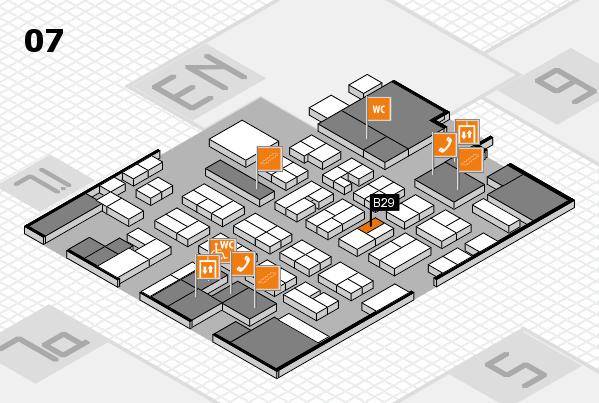 MEDICA 2016 hall map (Hall 7): stand B29