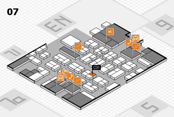 MEDICA 2016 hall map (Hall 7): stand C31