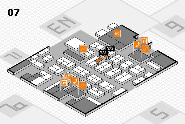 MEDICA 2016 hall map (Hall 7): stand B23