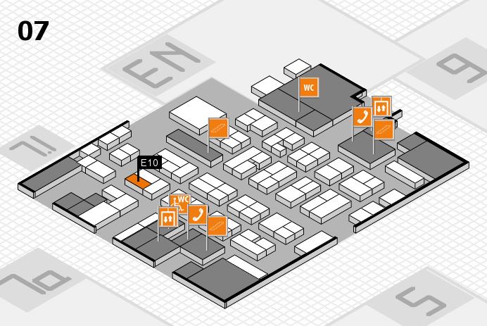 MEDICA 2016 hall map (Hall 7): stand E10