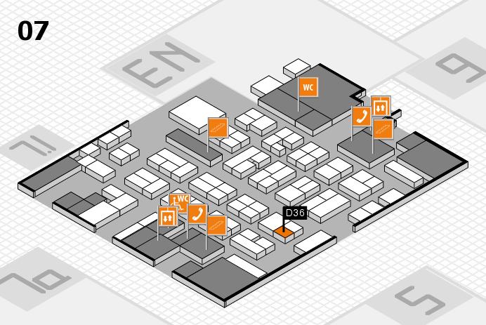 MEDICA 2016 hall map (Hall 7): stand D36