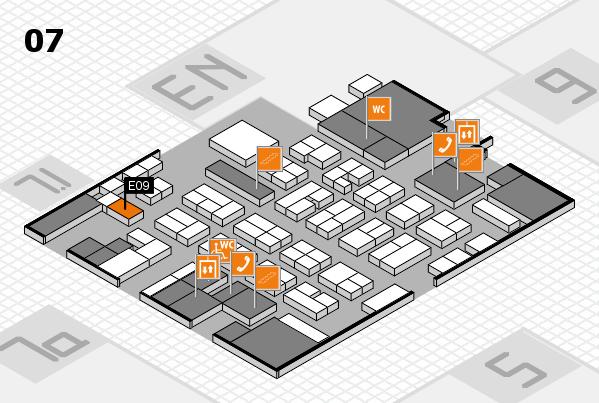 MEDICA 2016 hall map (Hall 7): stand E09